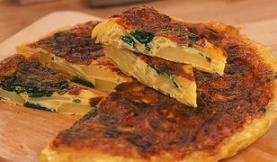 Tortilla ziemniaczana ze szpinakiem