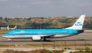 Samoloty KLM wyróżnia błękitna barwa