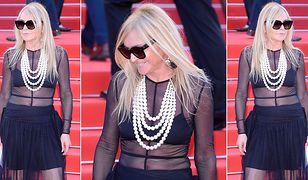 """Monika Olejnik w """"naked dress"""" na festiwalu w Cannes"""