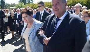 Premier RP Beata Szydło z mężem Edwardem Szydło.