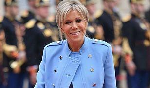 Nowa królowa recyklingu. Brigitte Macron w ulubionym niebieskim stroju