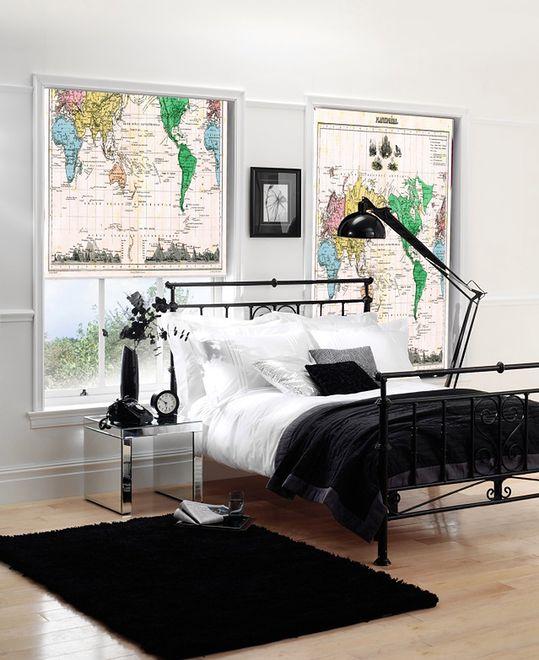 Dekoracja okna: mapa świata