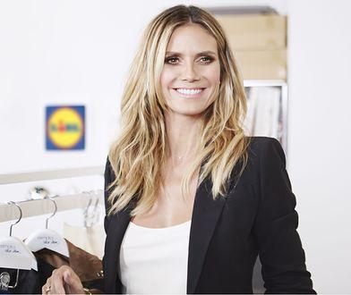 Heidi Klum na zdjęciach promujących najnowszą kolekcję dla Lidla