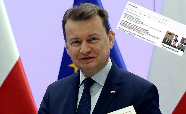Notka biograficzna Mariusza Błaszczaka w polskiej Wikipedii to prawdziwy hit