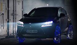 Lexus NX z kołami i oponami z... lodu