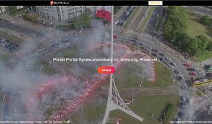 Strona startowa portalu Polfejs.pl.