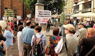 """Protest w Toruniu pod hasłem """"Stop wycince"""""""
