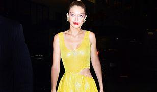 Gigi Hadid w sukience Prabal Gurung. Słoneczna wiosna na ulicach Nowego Jorku!