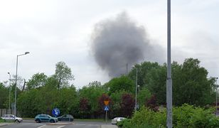 Dym widoczny przy ul. Goeppert-Mayer w Katowicach