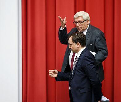 Poseł Tadeusz Woźniak i minister sprawiedliwości Zbigniew Ziobro.