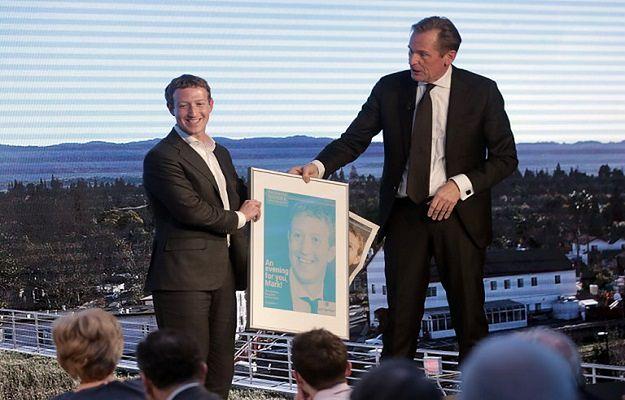 Mark Zuckerberg podczas wizyty w Niemczech