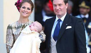 Księżniczka Madeleine z dzieckiem i mężem