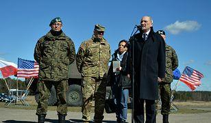 Minister obrony Antoni Macierewicz w Drawsku Pomorskim
