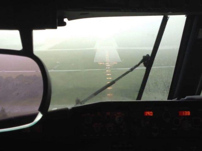 Przerażające nagranie z kokpitu pilotów. Nieudane lądowanie
