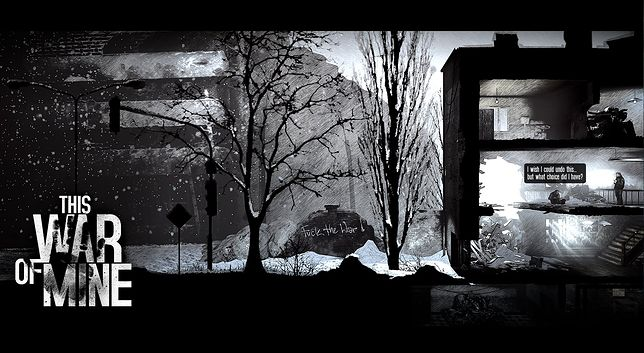 "Screen z gry ""This War of Mine""."