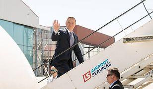 Prezydent Andrzej Duda w drodze do Brukseli