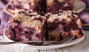 Ciasto ucierane z jagodami