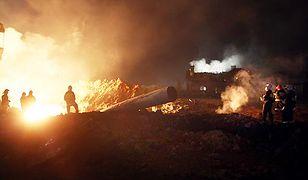 Uszkodzenie mogło doprowadzić do podobnej katastrofy, jak ta, do której doszło w Jankowie Przygodzkim. Na zdjęciu akcja straży pożarnej