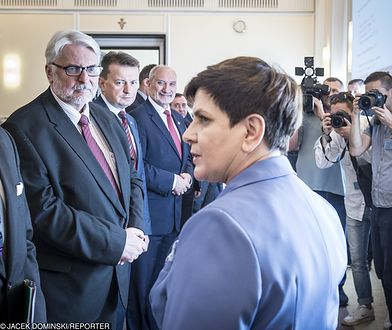Premier Beata Szydło na posiedzeniu rządu