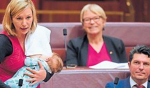 Senatorka nakarmiła córkę w czasie obrad. Przeszła do historii