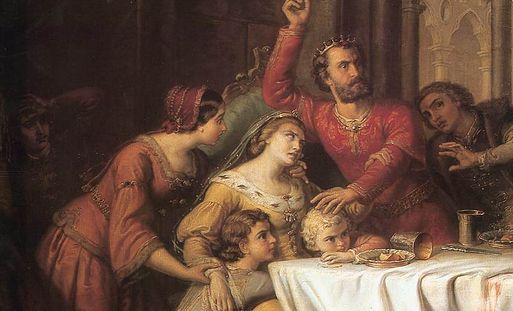 Elżbieta Łokietkówna - królowa Węgier i regentka Polski z dynastii Piastów. Fragment obrazu Somy Orlai-Petricha.