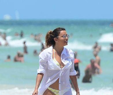 Seksowna Eva Longoria na plaży. Widać, że ma 42 lata?