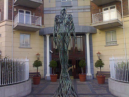 Kobieta fontanna w Dublinie