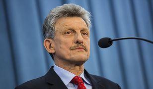 Stanisław Piotrowicz, polski polityk, prokurator, zajmował stanowisko senatora i sekretarza stanu