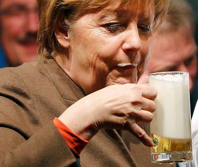 Angela Merkel podczas wiecu CDU