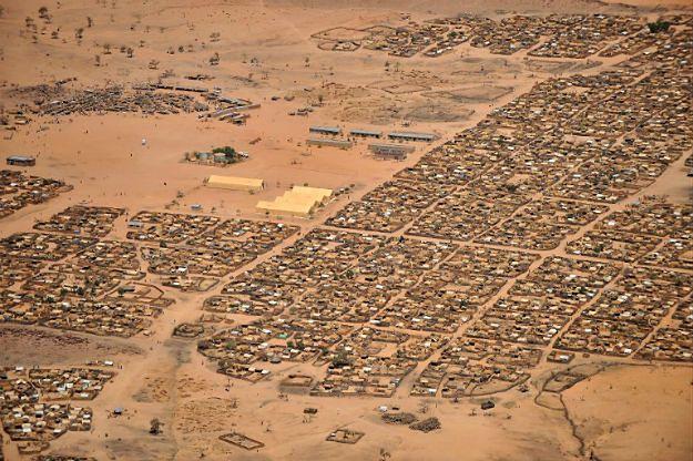 Obóz dla uchodźców w Gaga w Czadzie w 2009 r. Wówczas gościł uciekinierów z Darfuru