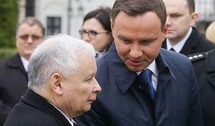 Prezydent Andrzej Duda oraz prezes PiS Jarosław Kaczyński
