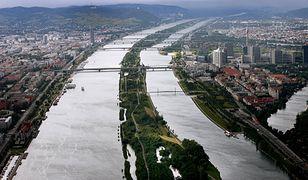 Widok na wyspę Donauinsel w Wiedniu