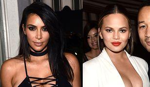 Bitwa na dekolty: Kim Kardashian czy Chrissy Teigen?