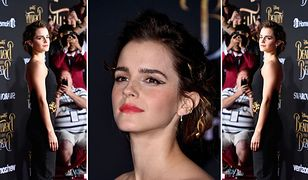 LOOK OF THE DAY: Emma Watson w czarnym kombinezonie