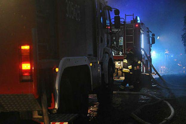Pożar pałacu w Miłachowie. Akcję gaśniczą utrudniał mróz