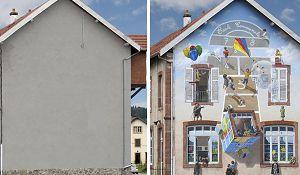 Brzydkie domy zmienia w dzieła sztuki