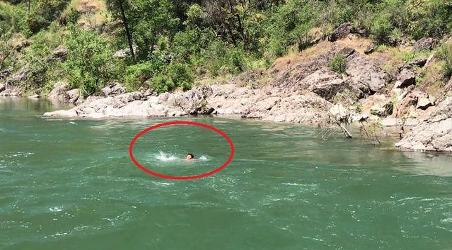 Wskoczył do rzeki i zaginął. Nagranie, to przestroga dla innych śmiałków