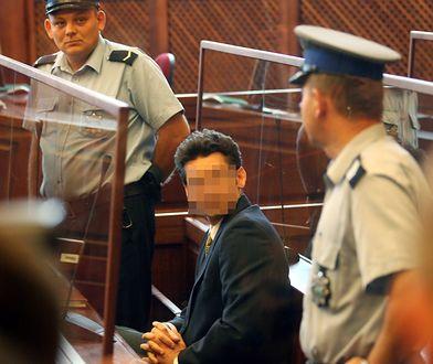 Krystian Bala na sali sądowej