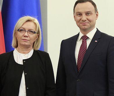 Nowy prezes TK Julia Przyłębska i prezydent Andrzej Duda