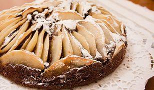 Ciasto czekoladowe z gruszkami. Zniknie do ostatniego okruszka