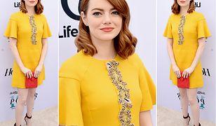 LOOK OF THE DAY: Emma Stone w słonecznej sukience retro