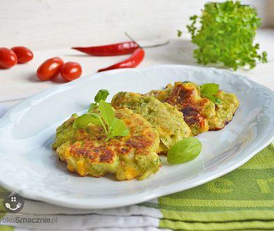 Placuszki z brokułami i kukurydzą