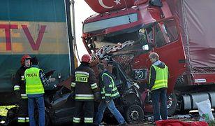 Miejsce wypadku na drodze krajowej nr 11 Kluczbork-Olesno