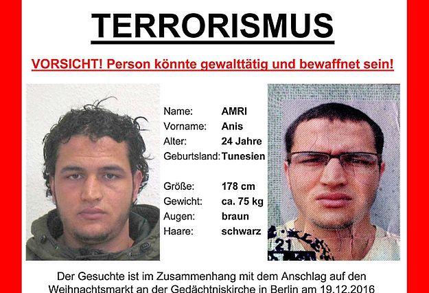 Zamachowiec z Berlina używał co najmniej 14 różnych nazwisk
