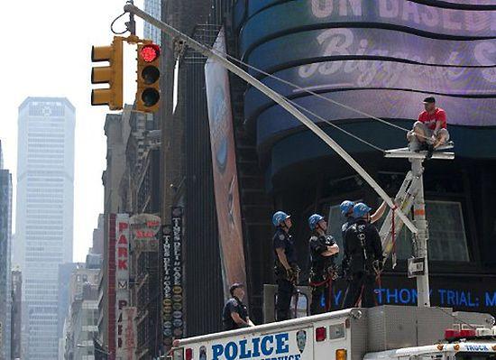 Wyrzucili go z pracy, sparaliżował Nowy Jork - zobacz