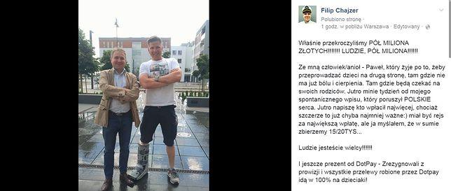 """Filip Chajzer zebrał już ponad pół mln zł dla dzieci z """"Promyczka""""!"""