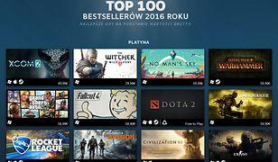 Steam  ujawnił listę stu najbardziej dochodowych gier 2016 roku. Są na niej polskie hity