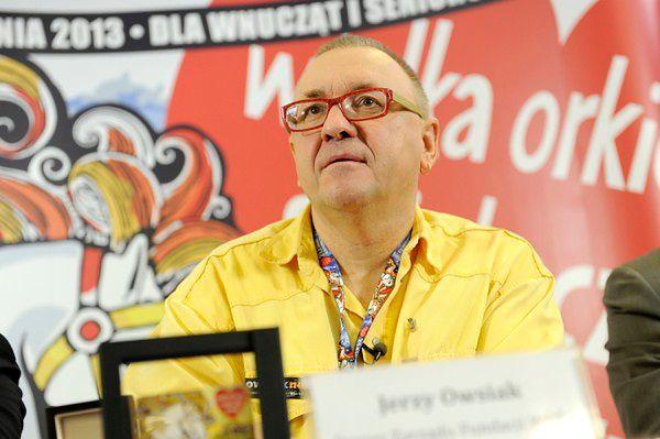 Jerzy Owsiak podczas 21. finału WOŚP