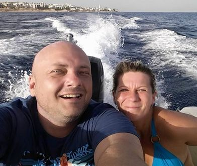 Marcin i Angelika Klis na wakacjach.