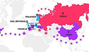 Z terytoriów tych państw najczęściej atakowano Polskę.